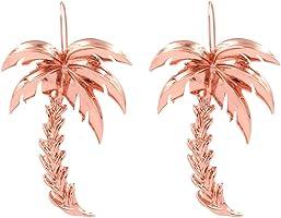Meolin 1 Pair Golden Palm Drop Earrings for Women Statement Bohemian Dangle Big Earrings Accessories,Zinc Alloy,7.5cm
