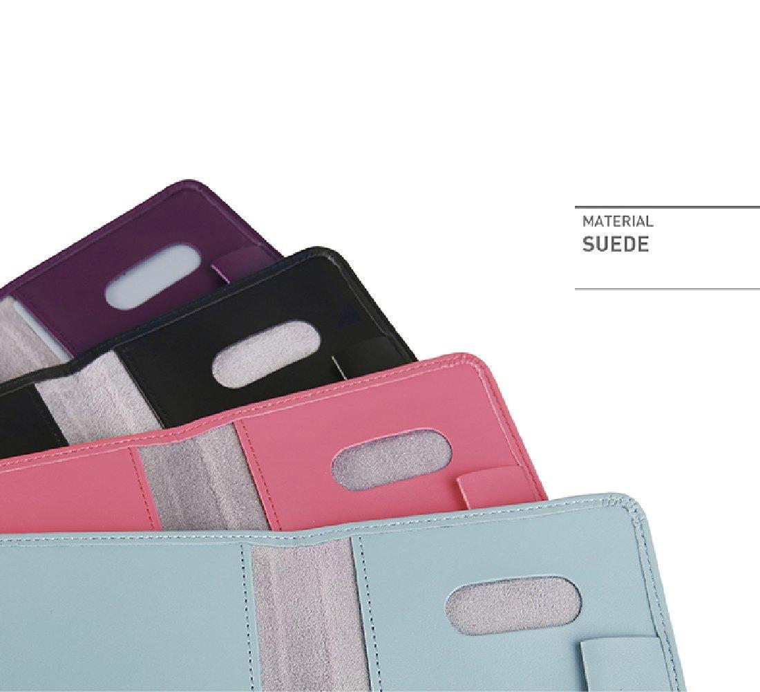 Passport Wallet RFID Blocking Slim PU Leather Travel Passport Holder Cover Case Blue