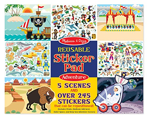 Adventure Pirate Island (Melissa & Doug Reusable Sticker Pads Set: Adventure - 245+ Stickers)