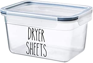 White - Dryer Sheets Vinyl Decal - Skinny Farmhouse Style for Laundry Room - 2.25w x 3h inches - Die Cut Sticker