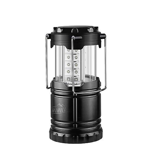 10 opinioni per HiHiLL Camping Lanterna, Pieghevole, Batteria Alimentata, Lanterne Impermeabili