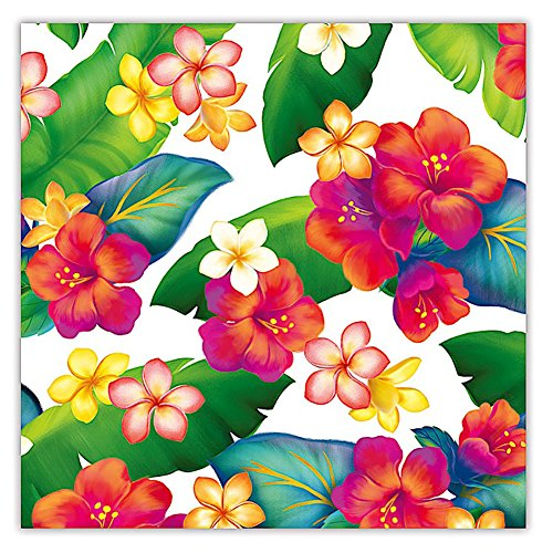 Island Blossoms Hawaiian Floral Gift Wrap Paper / 2 Rolls (Floral Island)