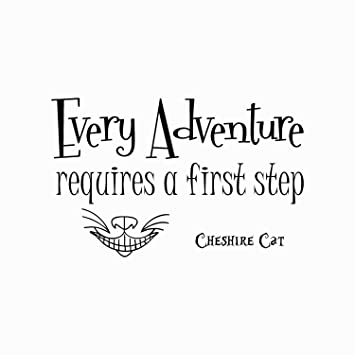 Amazon.com: Alice in Wonderland Quote Wall Decal Every Adventure