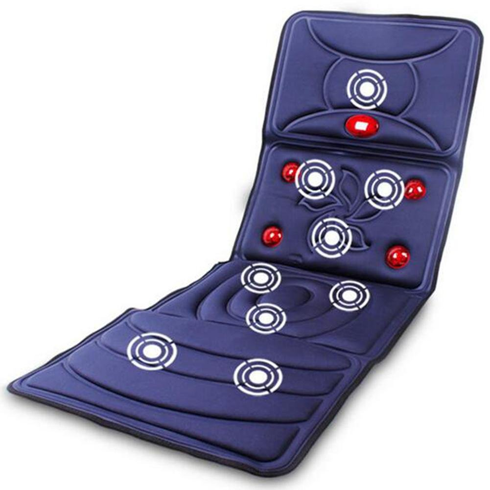 LPY-Multifunctional Massage Mattress Heating Can Be Timed Cervical + Neck + Back + Thigh + Calf Body Massage To Relieve Body Pain ?Blue?