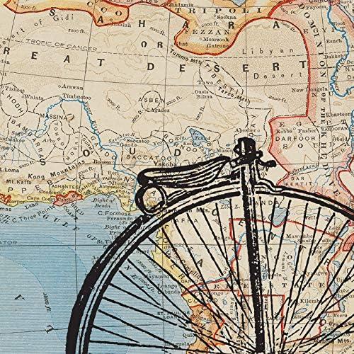 POSTER BICYCLE BIKING GLACIER NATIONAL PARK MONTANA CYCLE VINTAGE REPRO FREE S//H