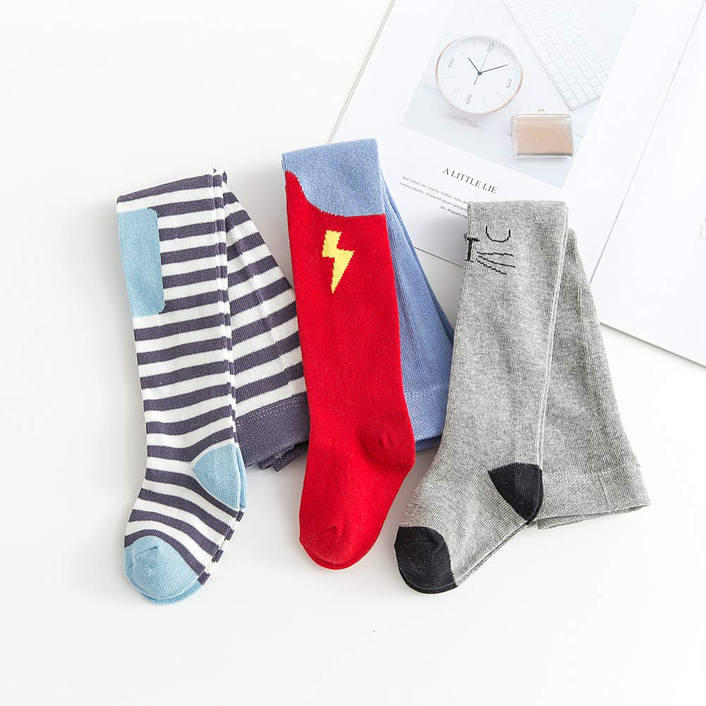 Tights for Baby Girls Leggings 3 Pack Cotton Socks Newborn Toddlers Knit Stockings 0-3T Infant