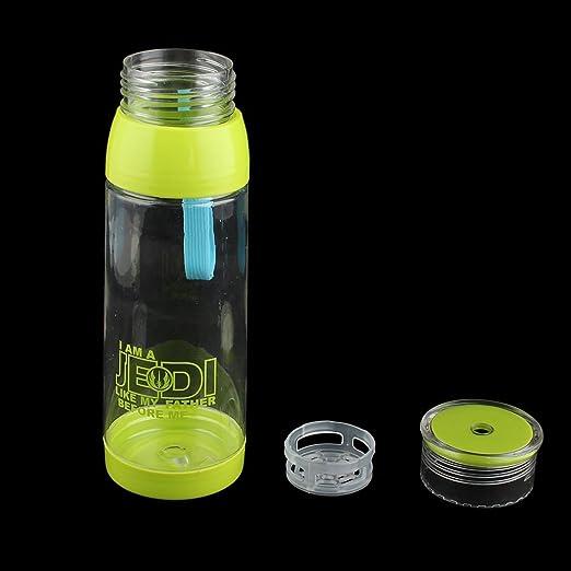 Amazon.com : eDealMax Titular de la Botella de plástico al aire Libre casero Tapón de tuerca té Agua recipiente Para Leche Taza de la Taza de 650 ml Luz ...