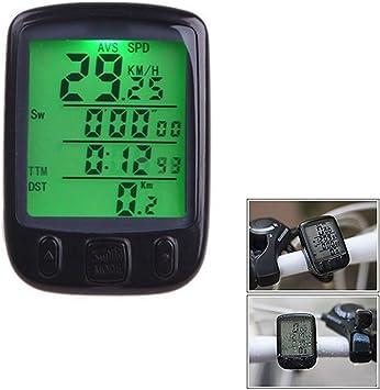 Dxlta Pantalla LCD Ciclismo Bicicleta Bicicleta Ordenador ...