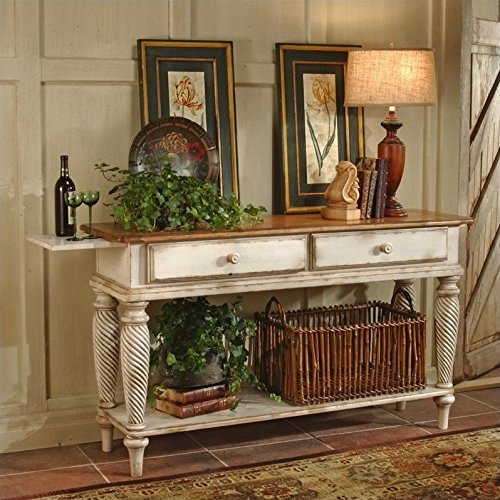 Wilshire Sideboard w 2 Drawers & Antique White Finish
