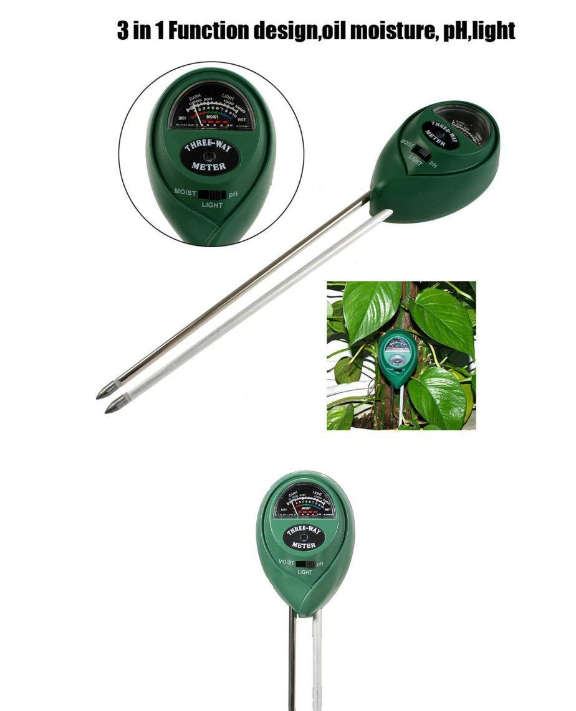 HITSAN 3 in1 PH Garden Soil Tester Professional LCD Temperature Moisture Sunlight Meter One Piece