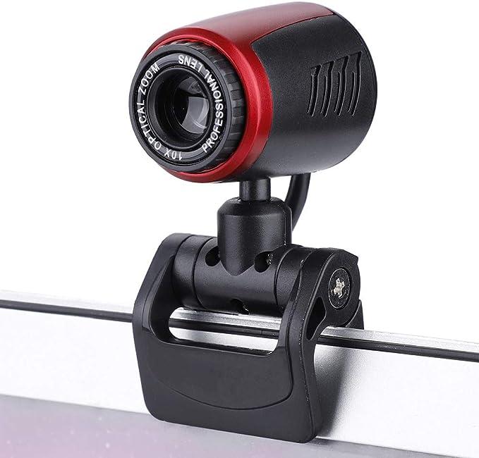Cámara Web USB 2.0, cámara Web con cámara HD de 16 MP con Mic para computadora/computadora portátil PC/computadoras de Escritorio/Skype/Soporte MSN/Yahoo/Skype: Amazon.es: Electrónica
