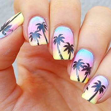 Palm Tree Collection Palm Tree Nail Art Amazon Beauty