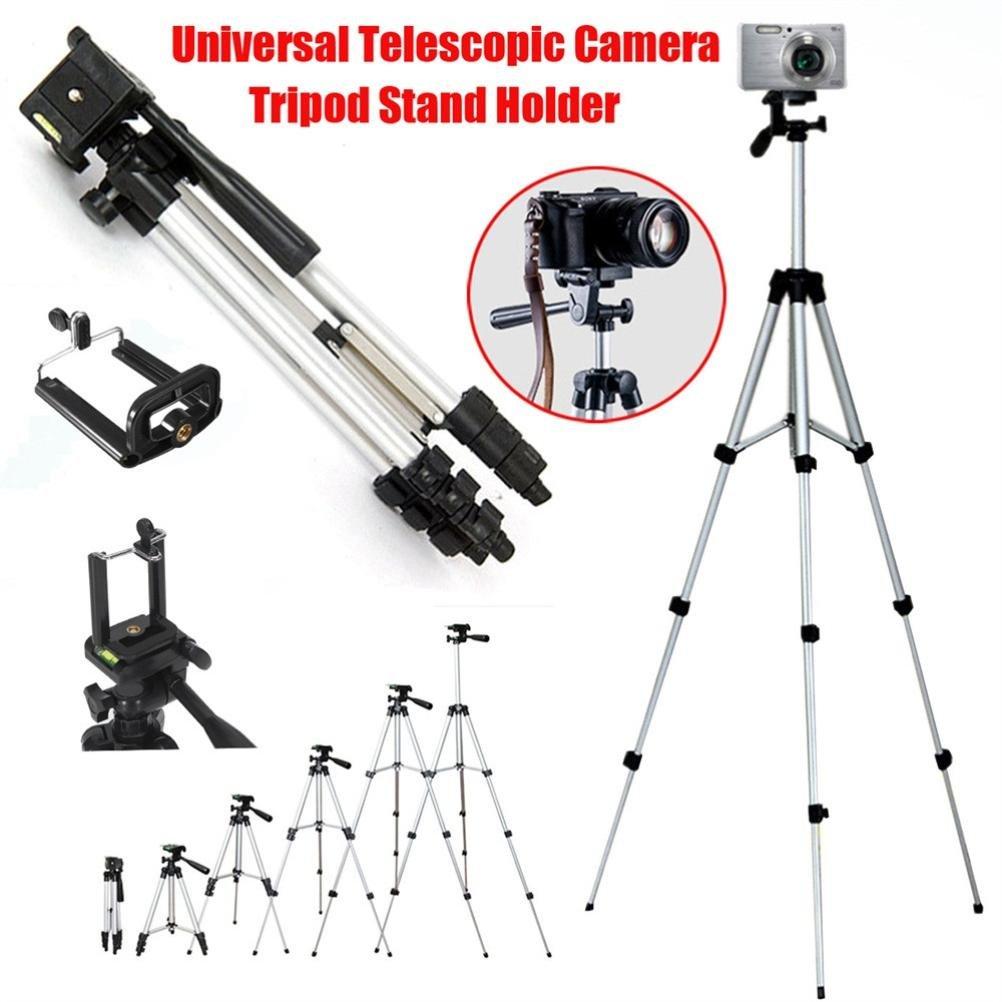 Powerfulline Portable Aluminium Camera Tripod Stand Bracket for Canon Nikon DSLR Camcorder