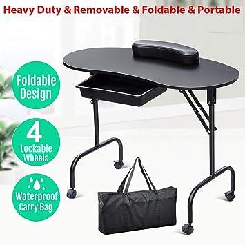 Amazon.com: Mesa de manicura portátil de alta calidad, mesa ...