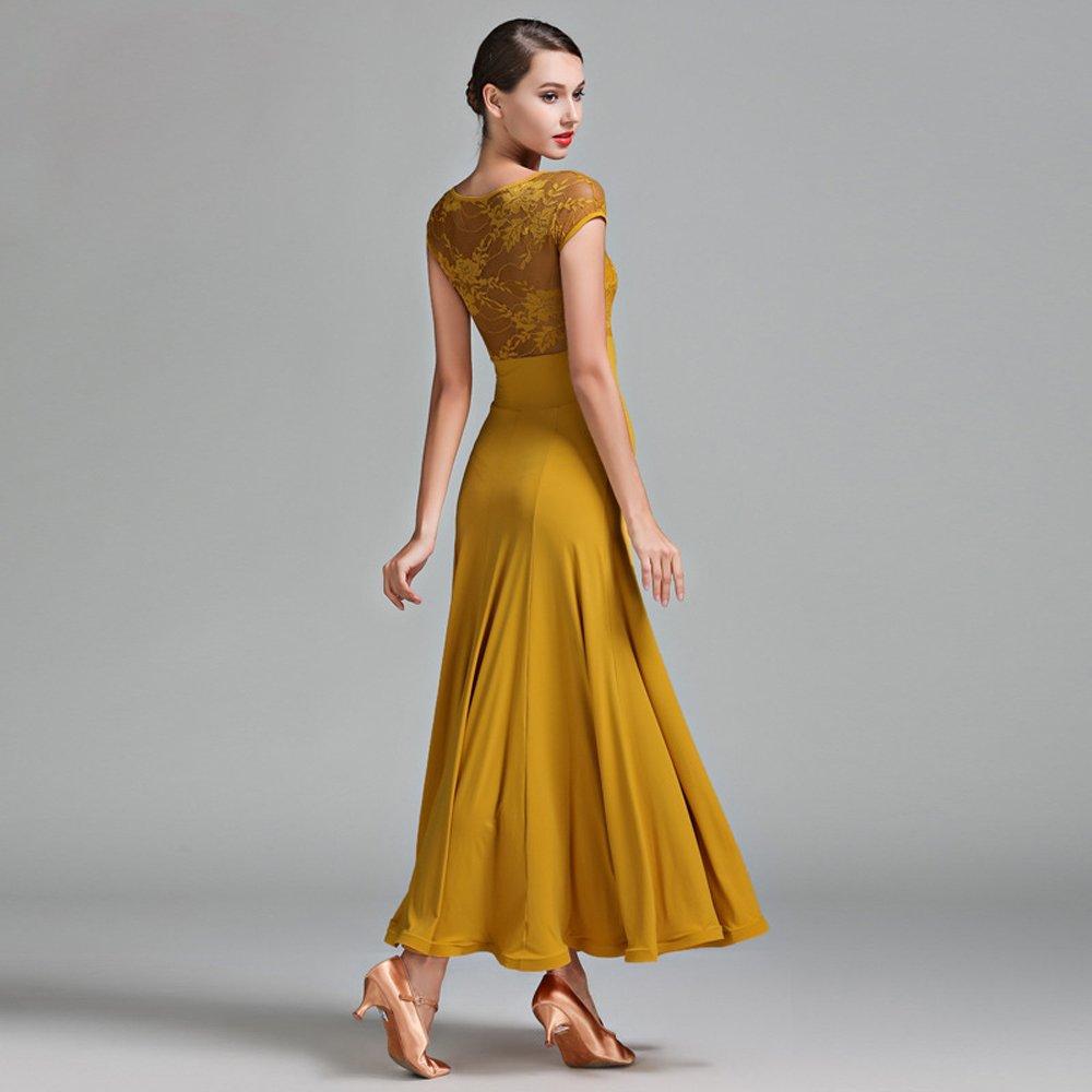 Liu Sensen Sensen Sensen Moderne Dame Große Pendel Kurzarm Modern Dance Dress Tango Und Walzer Tanz Kleid Tanzwettbewerb Rock Short Ärmel Lace Dancing Kostüm B07HMG6QWW Bekleidung Hohe Qualität und günstig 76fd9d