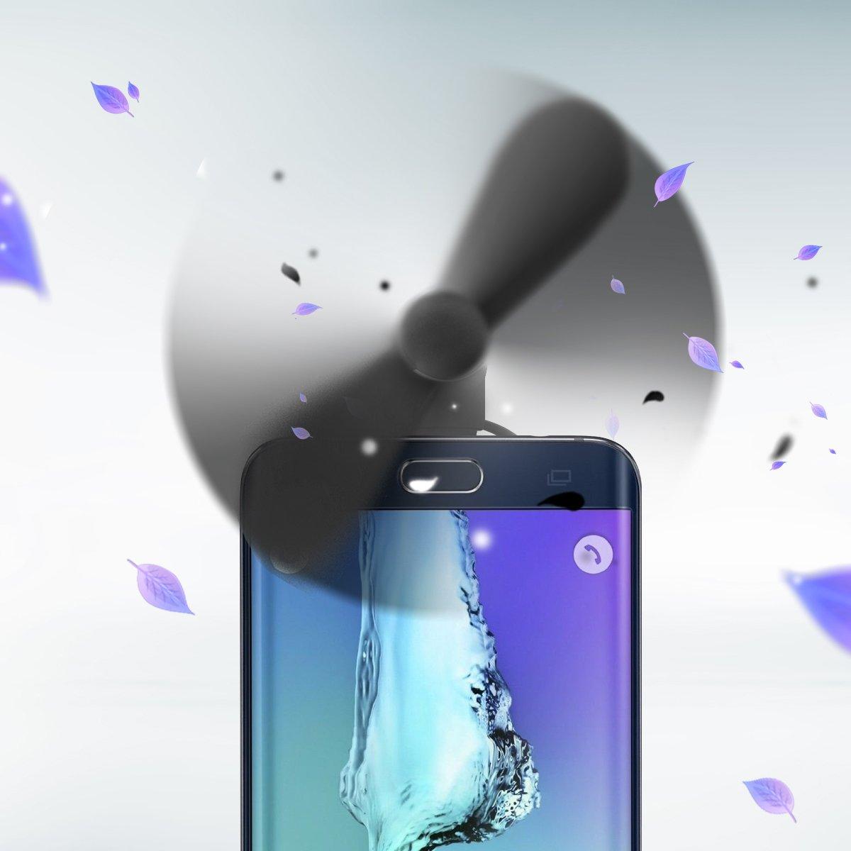 Noir Ubegood Mini Cooling Ventilateur Universal 2 in 1 Mini portable USB /électrique Ventilateur pour iPhone et Android Smartphones