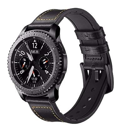 Amazon.com: Correa de piel para Samsung Galaxy Watch 1.811 ...