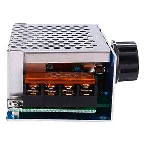 AC 220V 4000W SCR Voltage Regulator Dimmer Adjustable Electric Motor Speed Controller Large Power Module