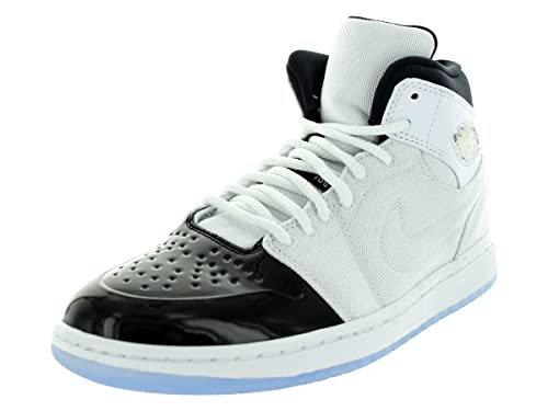 Jordan Nike Men s Air 1 Retro  95 TXT White Black Dark Concord Basketball fec61edad