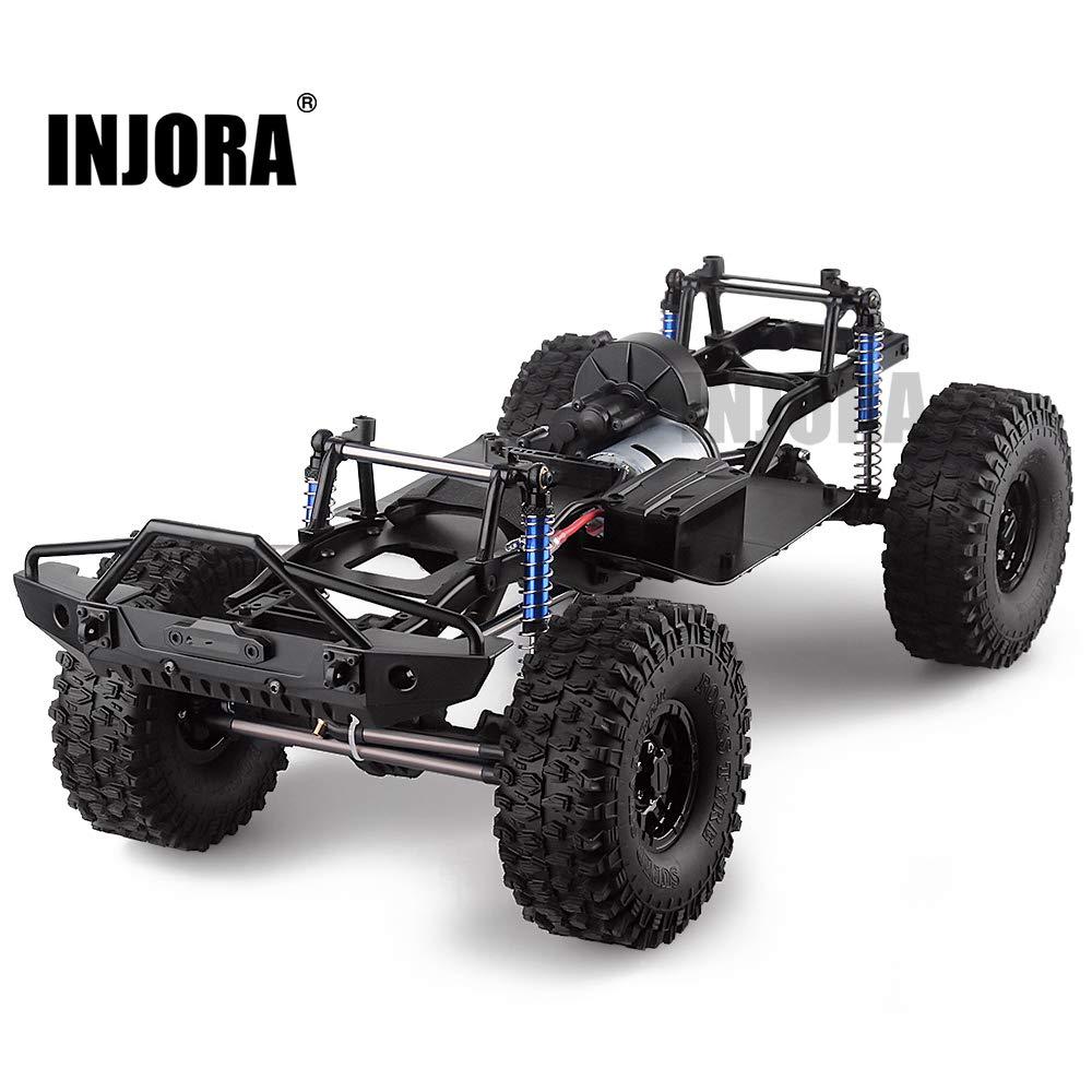 INJORA RC Auto Rahmen 313mm Radstand RC Frame RC Zubehör RC Chassis für 1 10 RC Crawler Car SCX10 II Mit Reifen