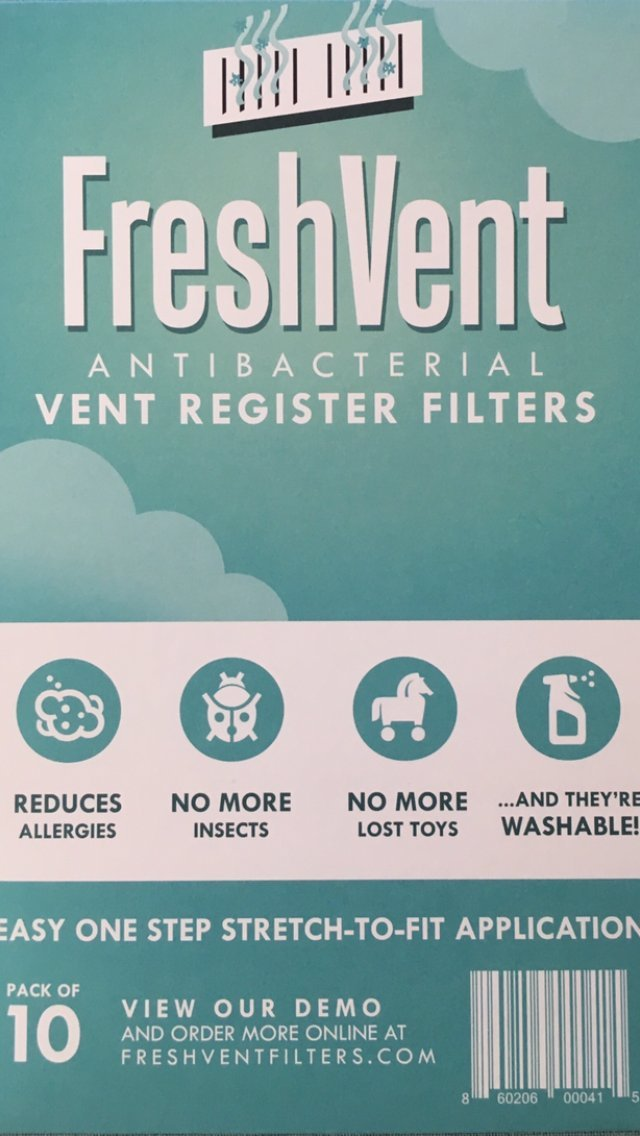 Antibacterial Vent Register Filters, Stretch-To-Fit, Reduce Dust Allergies, Pest And Spider Control, Trap and Catch Toys and Valuables.