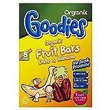Organix Goodies Organic Fruit Bars - Banana & Date 12mth+ (5x15g) - Pack of 6