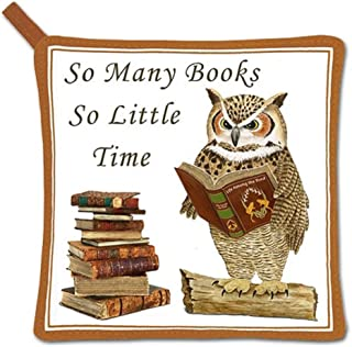 product image for Alice's Cottage Wise Owl Cotton Pot Holder, So Many Books