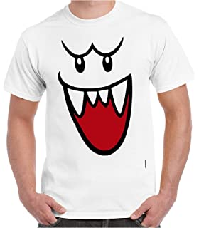 86caeccd Crazy Happy Tees Men's Mario Bros Ghost Boo Funny T-Shirt White