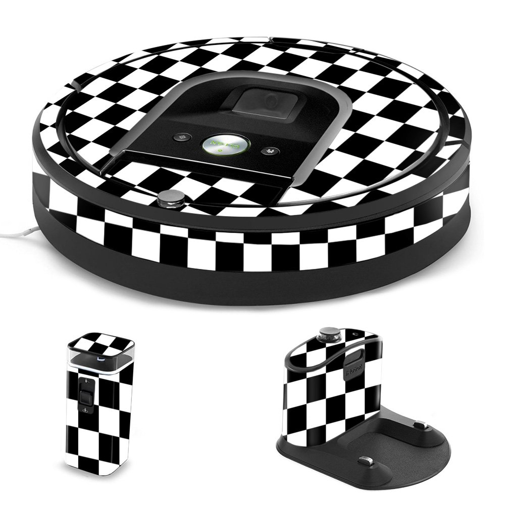 MightySkins Skin Compatible with iRobot Roomba 960 Robot Vacuum - Check   Protective, Durable, and Unique Vinyl Decal wrap Cover   Easy to Apply, Remove, and Change Styles   Made in The USA