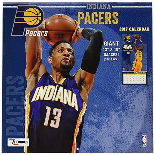 Turner Licensing Sport 2017 Indiana Pacers Team Wall Calendar, 12