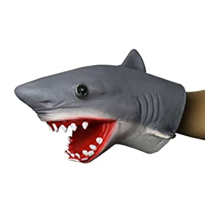 FantasyParty Hand Puppet Realistic Shark Role Play Toy Latex Puppet for both adult and children