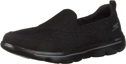 skechers walking shoes black