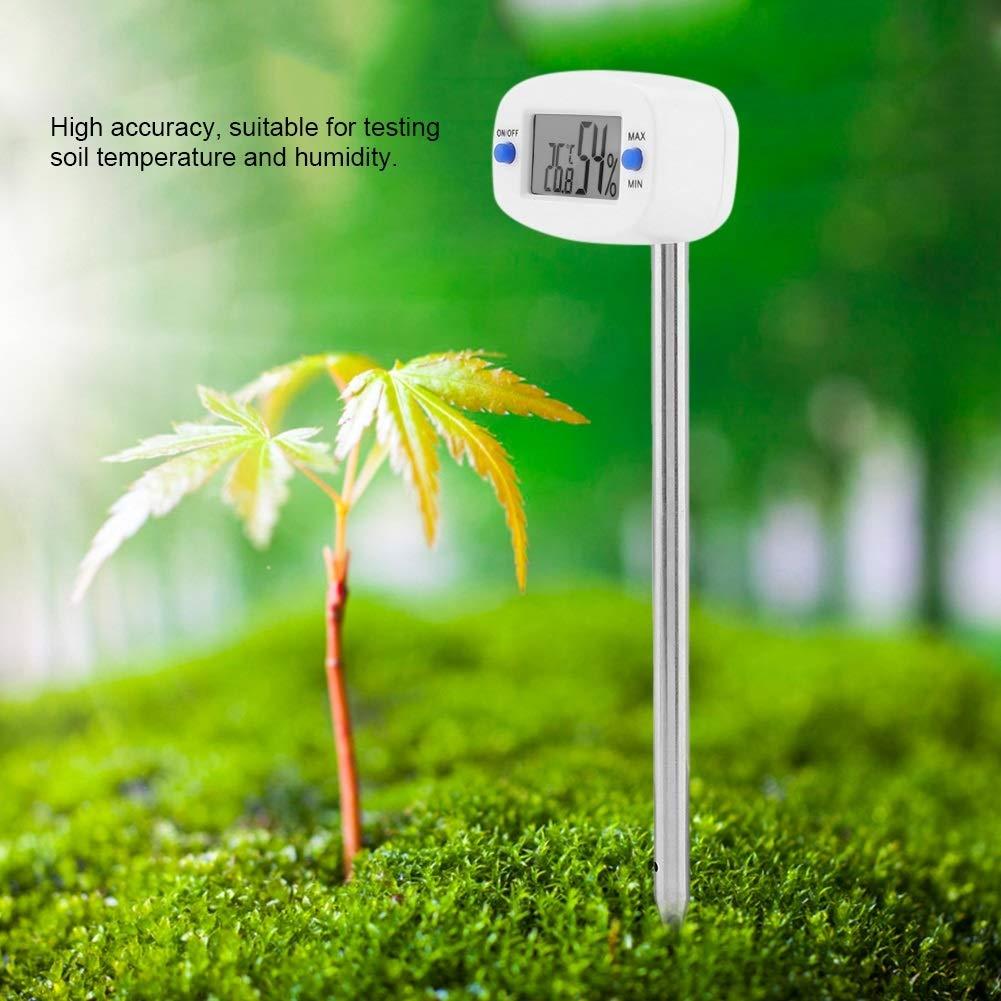 Yonhchop TA290 Digitales Bodenhygrometer-Feuchtemessger/ät Temperatur-Feuchtemessger/ät Mit Sonde