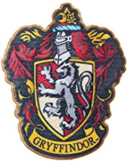 Simplicity Harry Potter Gryffindor House Emblem Applique Clothing Iron On Patch, 3.5'' x 4.35