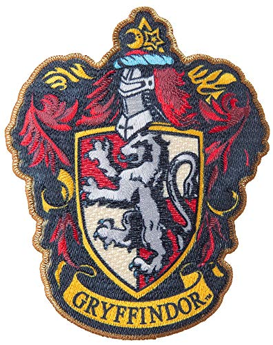 Gryffindor Crest Patch - Simplicity 1932159001 Harry Potter Gryffindor House Emblem Applique Clothing Iron On Patch, 3.5'' x 4.35'',