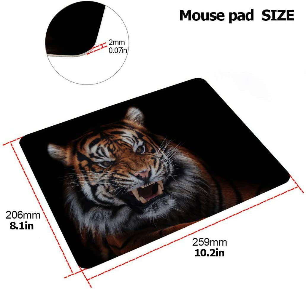 MacBook Air 2017 Case Powerful and Domineering Tiger Plastic Hard Shell Compatible Mac 15 Inch MacBook Case Protection Accessories for MacBook with Mouse Pad