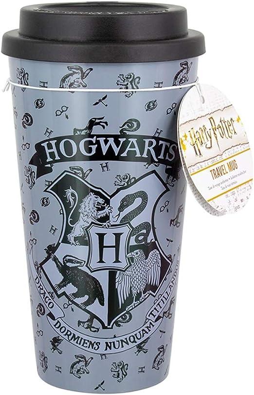 Officially Licensed Harry Potter Hogwarts Crest Ceramic Travel Mug