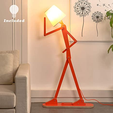 Hroome Cool Creative Floor Lamps Wood Tall Decorative Reading