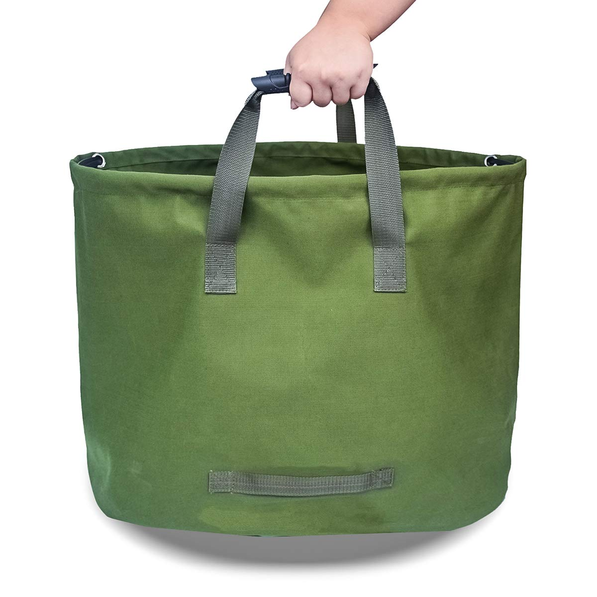 Ayunjia 33 Gallons Garden Lawn Litter Bag Green,Heavy Duty Garden Waste Bags for Garden Lawn Leaf Yard D22*H18inch