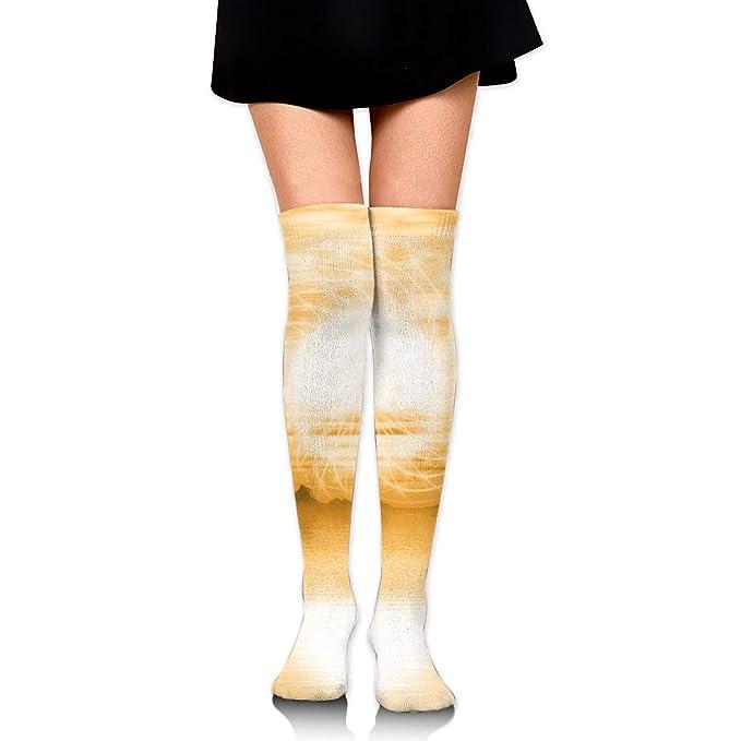 High Elasticity Girl Cotton Knee High Socks Uniform Free ...