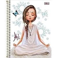 Caderno Espiral Universitário 1 Matéria com 80 folhas Capa Dura Hi Girls Tilibra