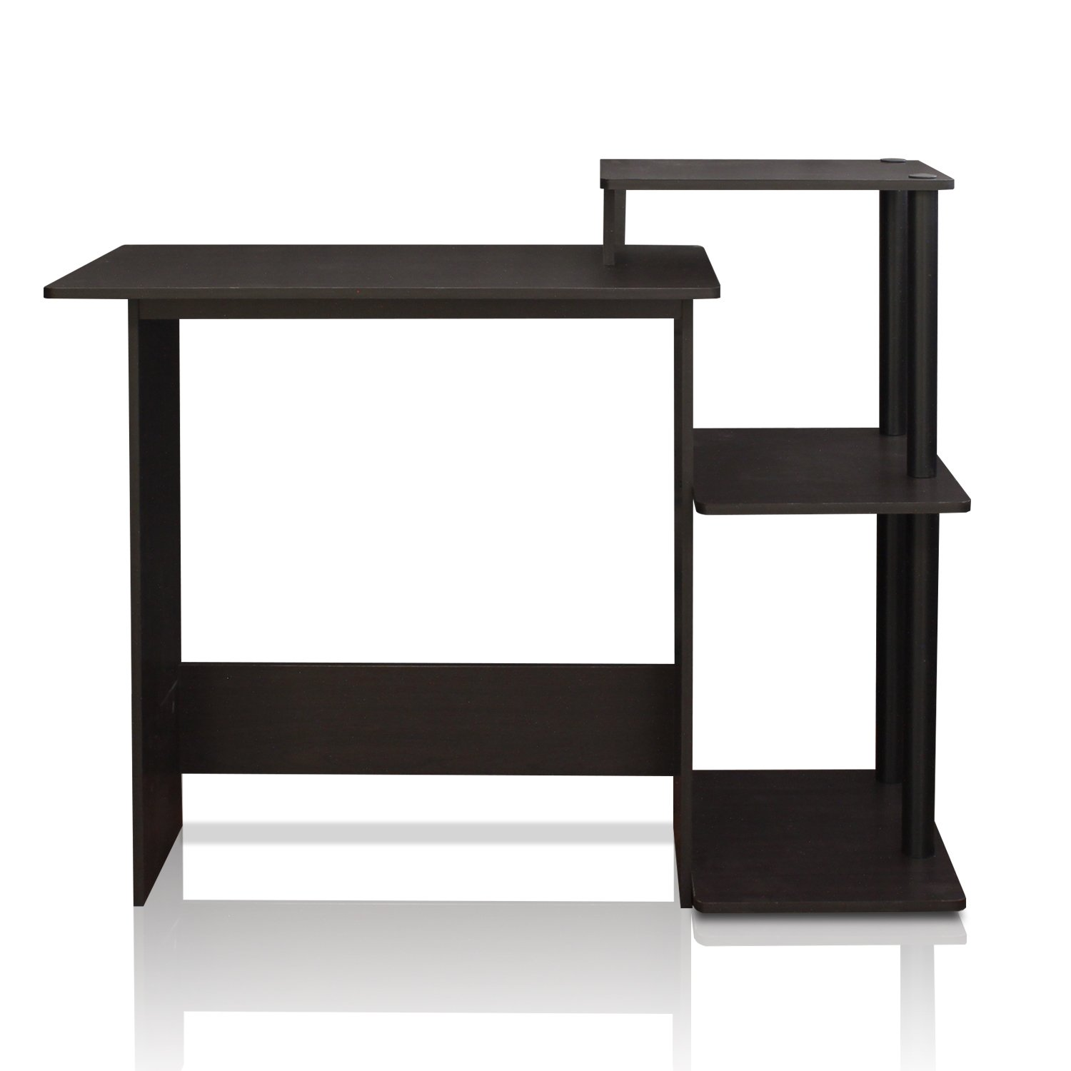 home corner gloss office orbit computer desk black f