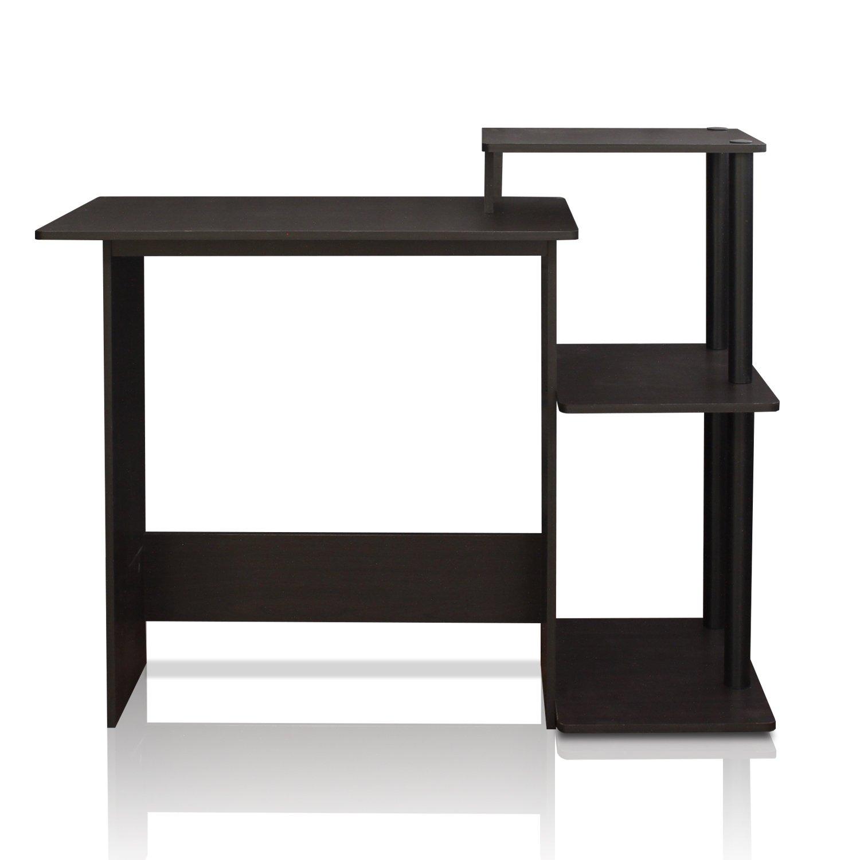 Furinno 11192EX/BK Efficient Computer Desk, Espresso/Black by Furinno
