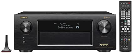 Denon AVRX6400H 11 2 Channel Full 4K Ultra HD Network AV Receiver with HEOS  black, Works with Alexa (Discontinued by Manufacturer)