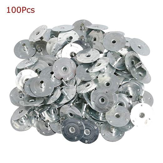100 portavelas con mecha plateada de metal para hacer velas FXCO