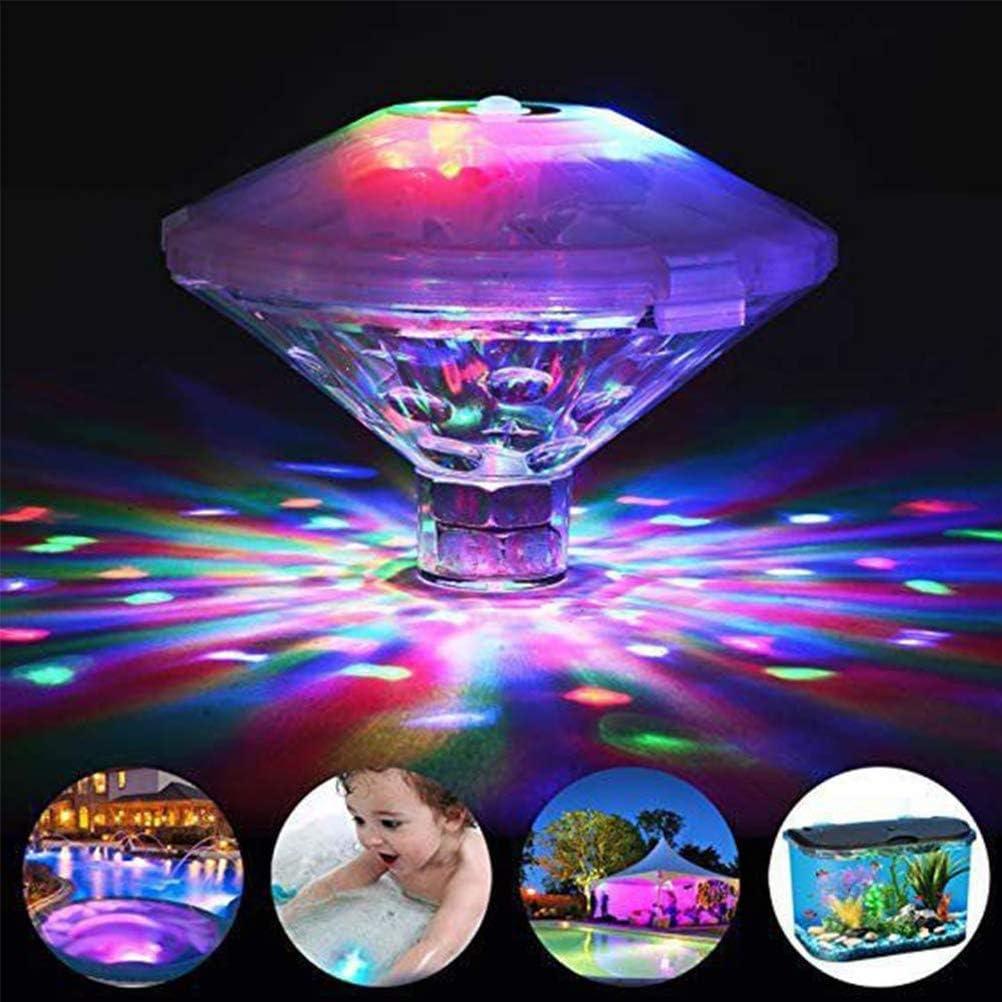 Luz de Piscina a Prueba de Agua, Luz Intermitente LED en forma de Cúpula Flotante para Piscina, Diferentes Efectos de Flash, Luces de Bañera, Luces de Estanque, Decoración, Suministros para Fiestas
