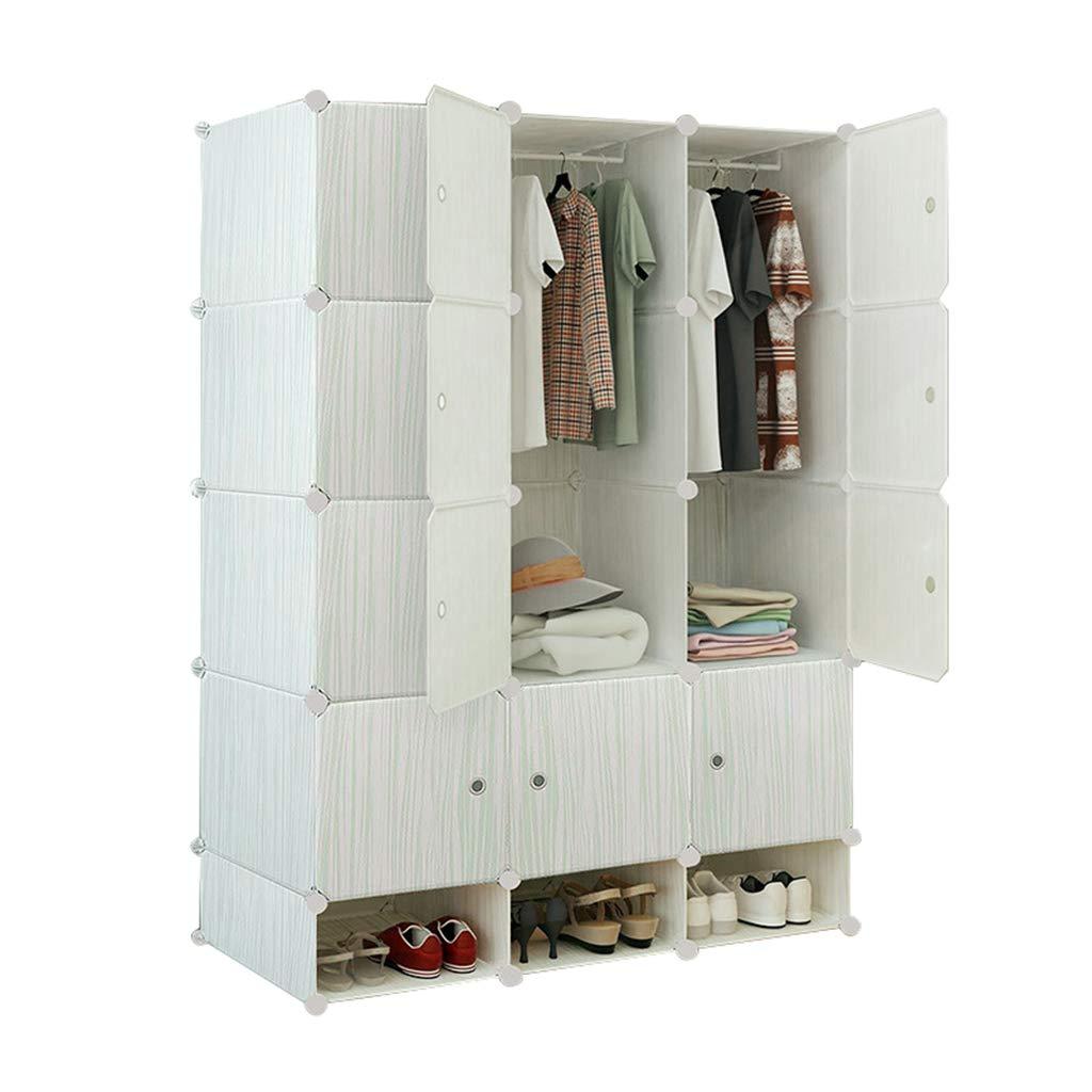 Sciever- Foldable Combination Wardrobe, Bedroom Modern Simple Combination Wardrobe - Home Clothing Toy Book Storage Cabinet - 111x165x47cm by Sciever Combination wardrobe