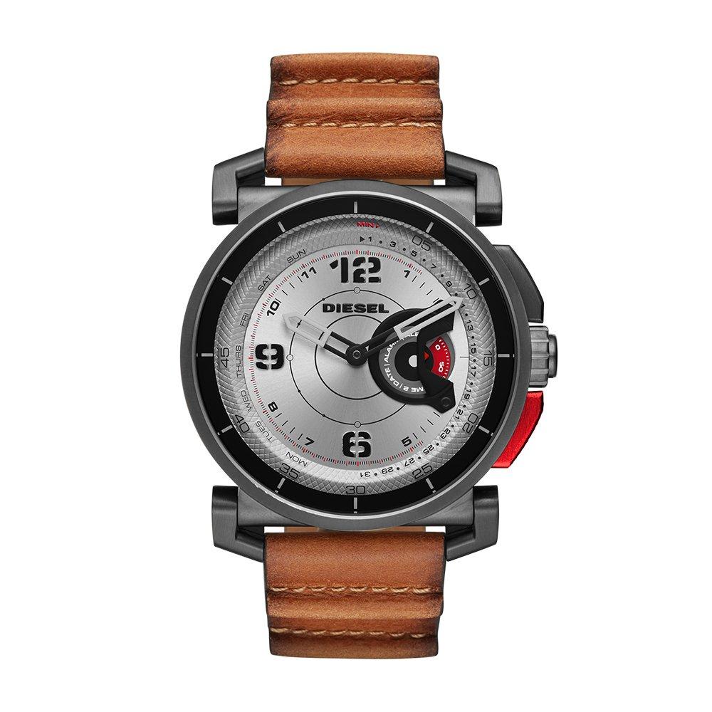 Diesel Mens Diesel ON Hybrid Smartwatch Stainless Steel Brown Leather Band,Model (DZT1002)