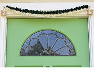 Diwali Toran with Lights for Home, Puja, Temple Decoration, Door Hanging, New Year, Indian Festivals, Thanksgiving, Christmas - Garland w/ Crystal and LED Dome Lights Door Valance