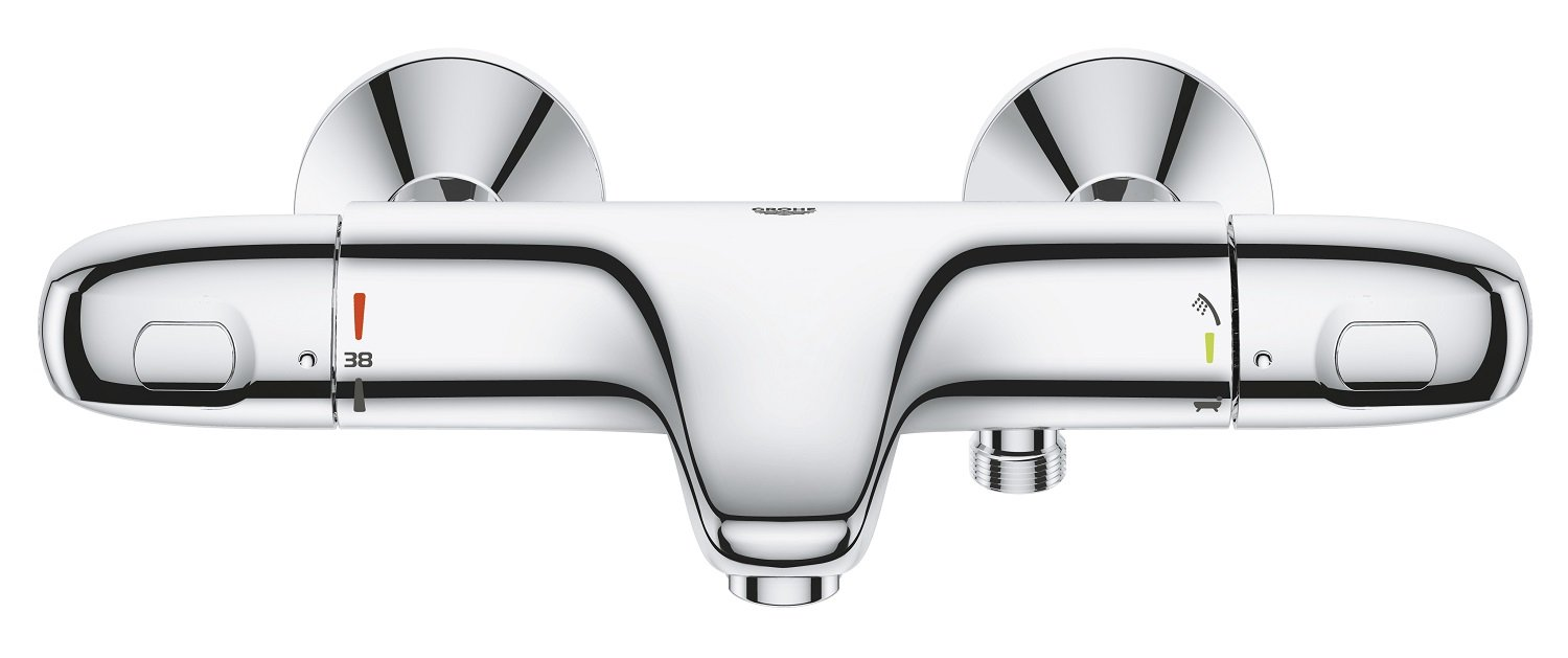 Import Allemagne GROHE Mitigeur Thermostatique Bain//Douche Grohtherm 1000 34155003